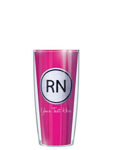 Personalized Text With Font Option RN ON Pink - Signature Tumblers - Tumbler -  - 1