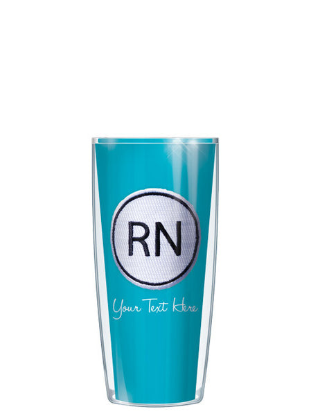 Personalized Text With Font Option RN ON Blue - Signature Tumblers - Tumbler -  - 1