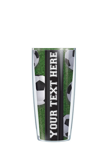 Personalized Text Soccer - Signature Tumblers - Tumbler -  - 1