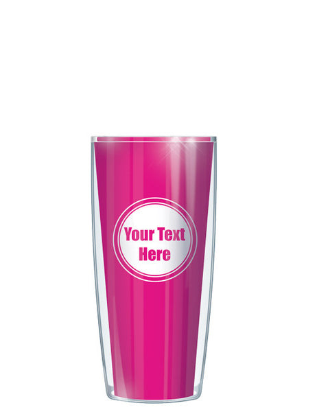 Personalized Text With Font Option Solid Pink - Signature Tumblers - Tumbler -  - 1