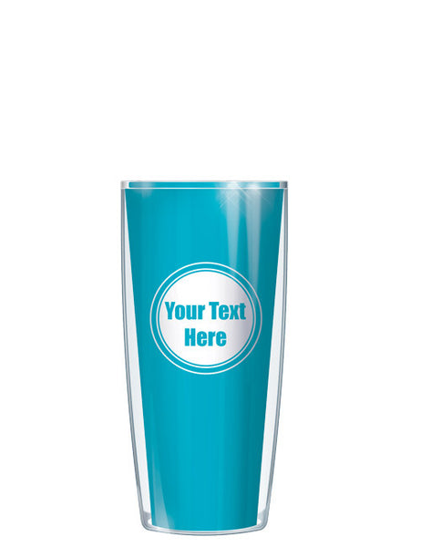 Personalized Text With Font Option Solid Teal - Signature Tumblers - Tumbler -  - 1