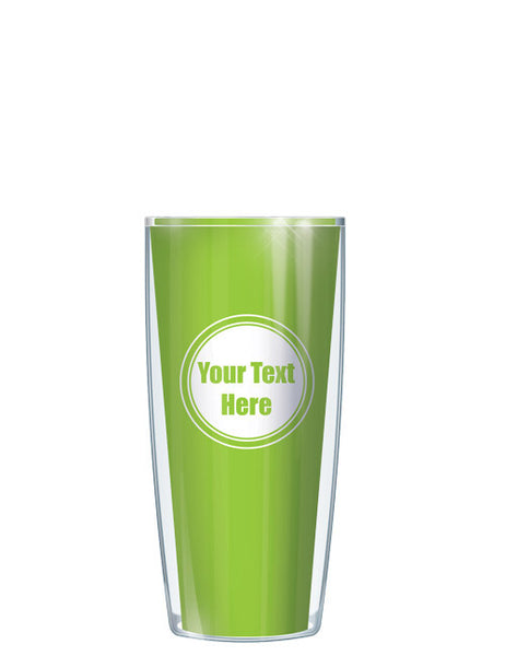 Personalized Text With Font Option Solid Lime - Signature Tumblers - Tumbler -  - 1