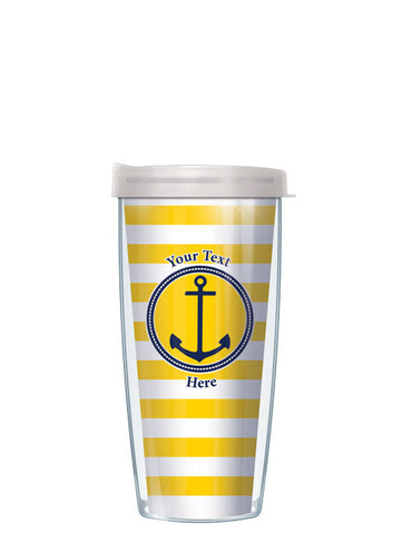 Personalized Text Stripes Yellow - Signature Tumblers - Tumbler -  - 2