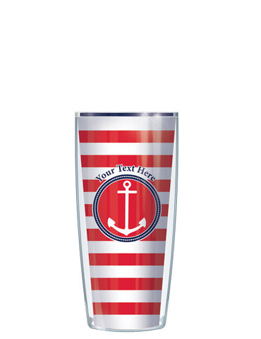 Personalized Text Stripes Red - Signature Tumblers - Tumbler -  - 1