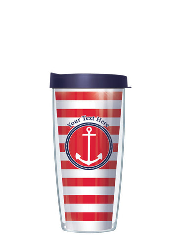 Personalized Text Stripes Red - Signature Tumblers - Tumbler -  - 2