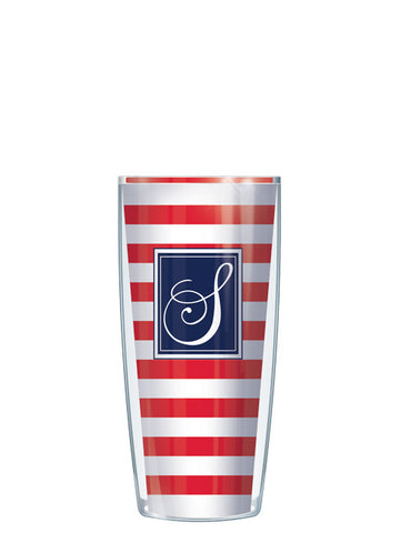 Single Letter Stripes Red - Signature Tumblers - Tumbler -  - 1