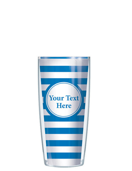 Personalized Text With Font Option Stripes Blue - Signature Tumblers - Tumbler -  - 1