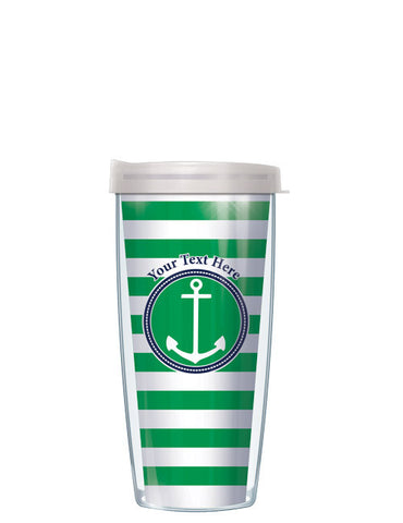 Personalized Text Stripes Green - Signature Tumblers - Tumbler -  - 2
