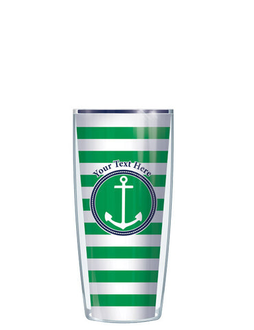 Personalized Text Stripes Green - Signature Tumblers - Tumbler -  - 1