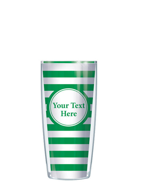 Personalized Text With Font Option Stripes Green - Signature Tumblers - Tumbler -  - 1