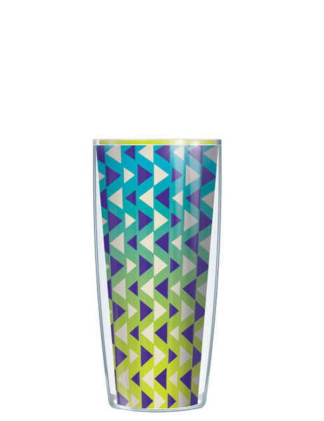 Teal Triangles Tumbler - Signature Tumblers - Tumbler -  - 1