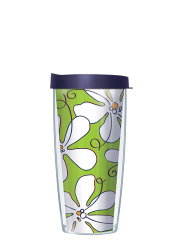 Whimsical White Flowers Lime Tumbler - Signature Tumblers - Tumbler -  - 2