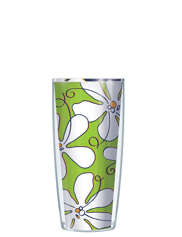 Whimsical White Flowers Lime Tumbler - Signature Tumblers - Tumbler -  - 1