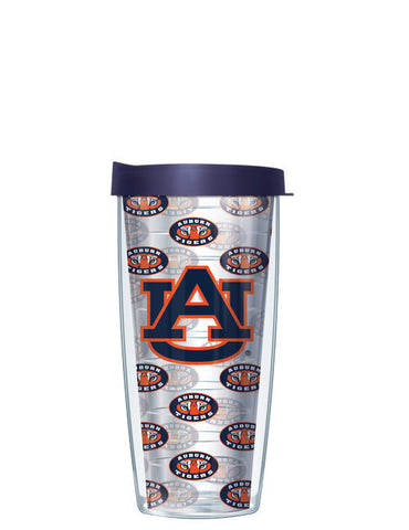 Auburn University - Logo Pattern on Clear with Navy Lid