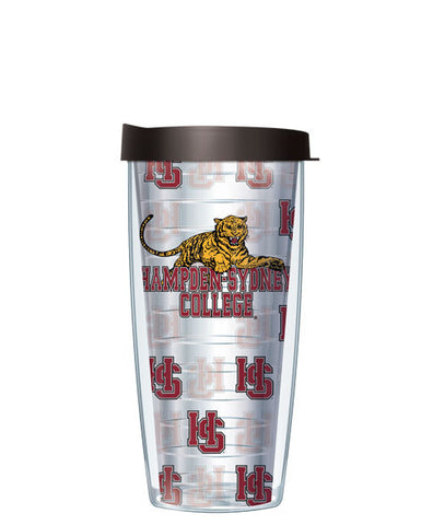Hampden Sydney College - Logo Pattern on Clear with Black Lid