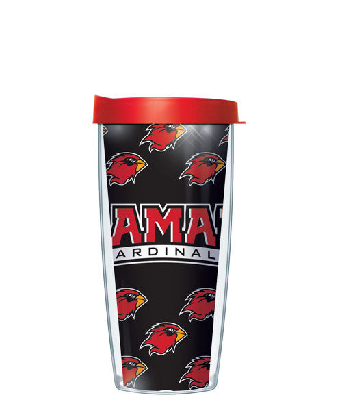 Lamar University - Repeat Pattern with Red Lid