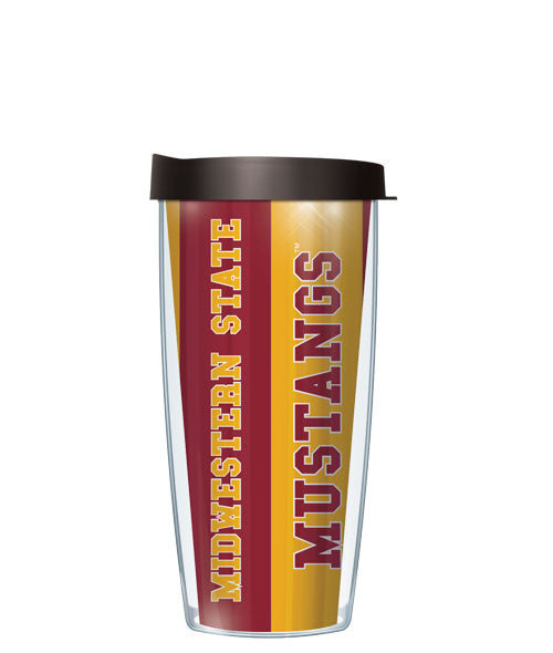 Midwestern State University - Vertical Stripes with Black Lid