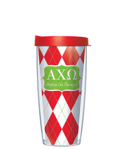 Alpha Chi Omega - Argyle with Red Lid