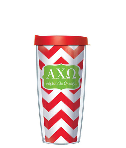 Alpha Chi Omega - Chevron with Red Lid