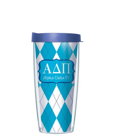 Alpha Delta Pi - Argyle with Blue Lid