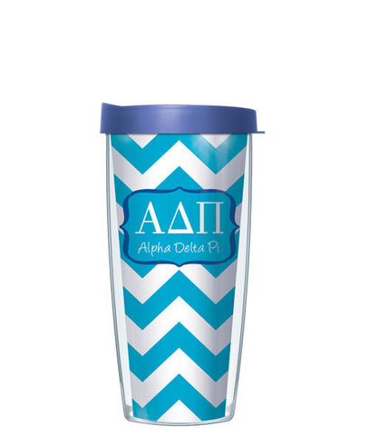 Alpha Delta Pi - Chevron with Blue Lid