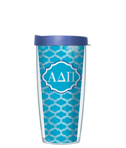 Alpha Delta Pi - Clear Duofoil with Blue Lid