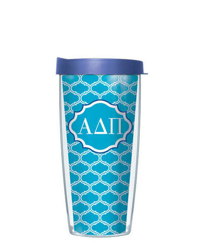 Alpha Delta Pi - Duofoil Pattern with Blue Lid