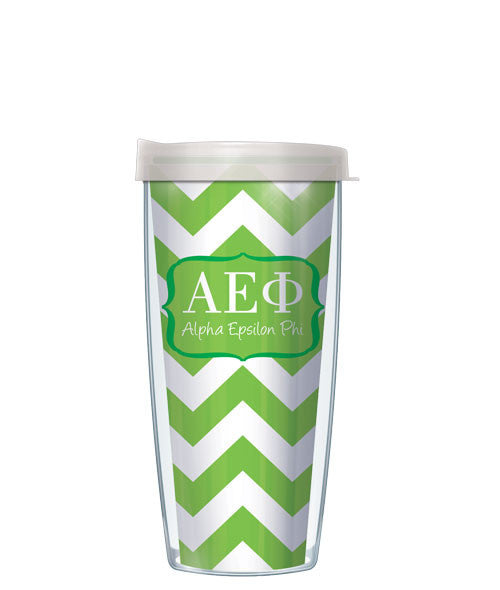 Alpha Epsilon Phi - Chevron with Clear Lid