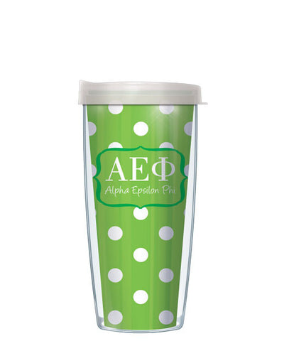Alpha Epsilon Phi - Dots with Clear Lid