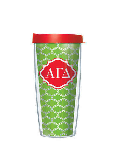 Alpha Gamma Delta - Clear Duofoil with Clear Lid