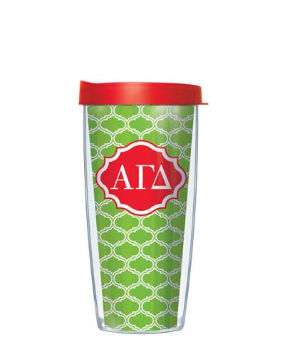 Alpha Gamma Delta - Duofoil Pattern with Clear Lid