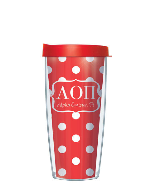 Alpha Omicron Pi - Dots with Clear Lid