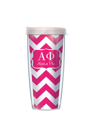 Alpha Phi - Chevron with Clear Lid