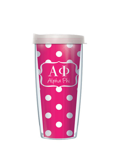 Alpha Phi - Dots with Clear Lid
