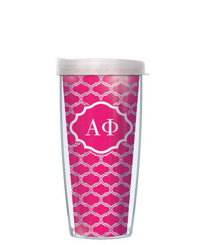 Alpha Phi - Clear Duofoil with Clear Lid