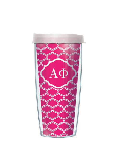 Alpha Phi - Duofoil Pattern with Clear Lid