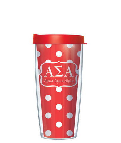 Alpha Sigma Alpha - Dots with Red Lid