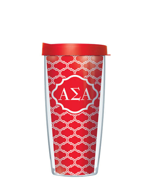 Alpha Sigma Alpha - Duofoil Pattern with Red Lid