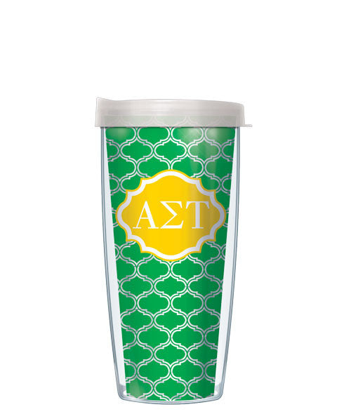 Alpha Sigma Tau - Clear Duofoil with Clear Lid