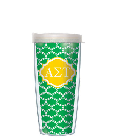 Alpha Sigma Tau - Duofoil Pattern with Clear Lid
