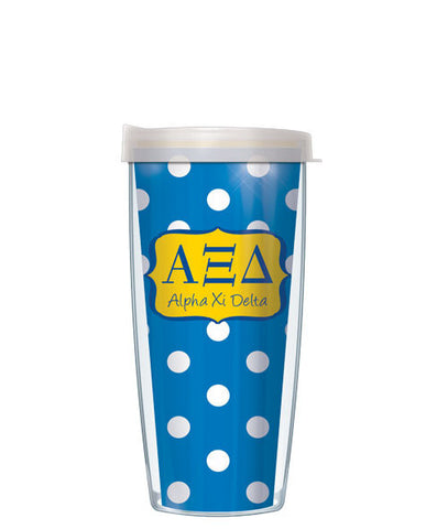 Alpha Xi Delta - Dots with Clear Lid