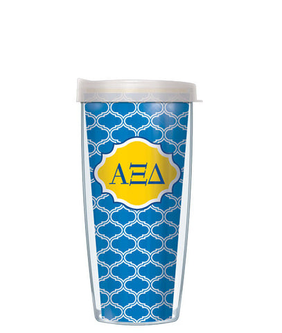 Alpha Xi Delta - Duofoil Pattern with Clear Lid