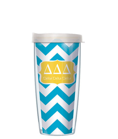 Delta Delta Delta - Chevron with Clear Lid