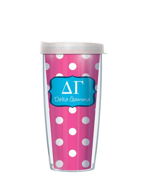 Delta Gamma - Dots with Clear Lid