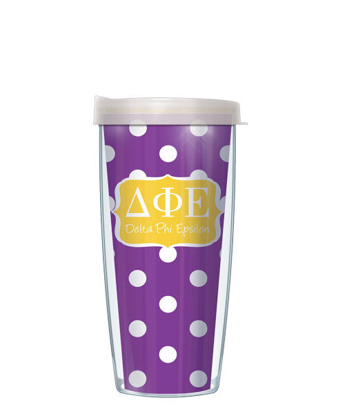 Delta Phi Epsilon - Dots with Clear Lid