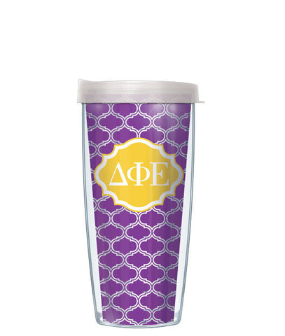 Delta Phi Epsilon - Clear Duofoil with Clear Lid