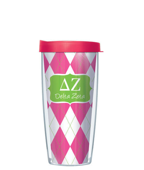 Delta Zeta - Argyle with Pink Lid