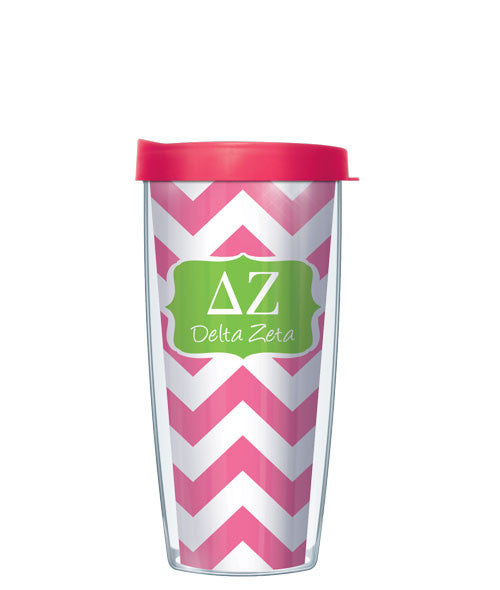Delta Zeta - Chevron with Pink Lid