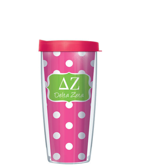 Delta Zeta - Dots with Pink Lid