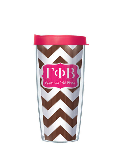 Gamma Phi Beta - Chevron with Pink Lid